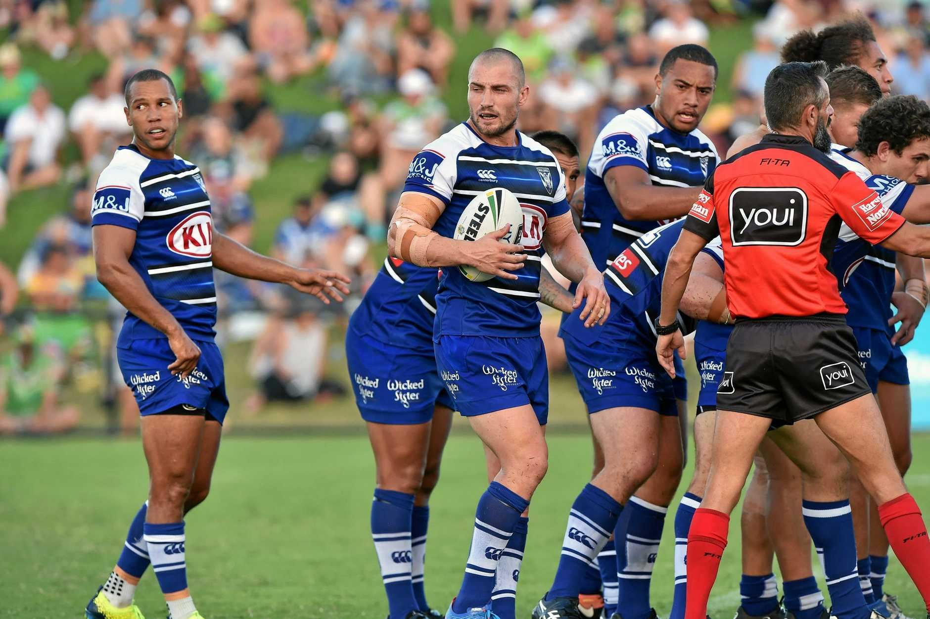Moses Mbye and Kieran Foran will team up for the Bulldogs.