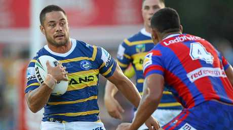Jarryd Hayne steps out for the Eels.