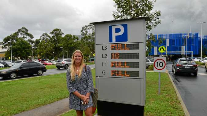 University of the Sunshine Coast student Hope Potter finds a park during a busy time.
