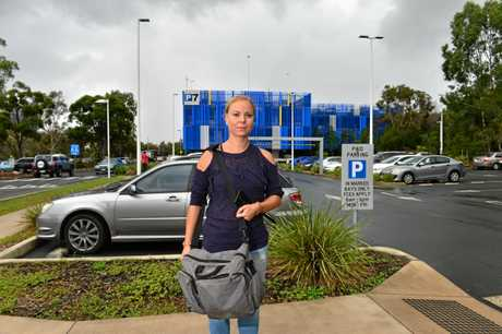 University of the Sunshine Coast student Patricia Jar heads to class after finding a park.