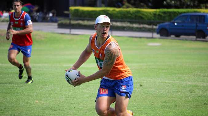 READY TO GO: Newcastle Knights' boom youngster Kalyn Ponga is set to make his debut with his new club on Friday night against Manly.