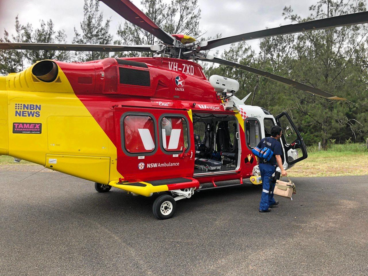 The Westpac Rescue Helicopter transported the female driver of a single vehicle collision at Fineflower to Lismore Base Hospital. The driver has been treated for serious internal injuries.