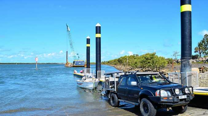 A Mackay boatie has complained that the new River Street Boat Ramp is in the wrong spot