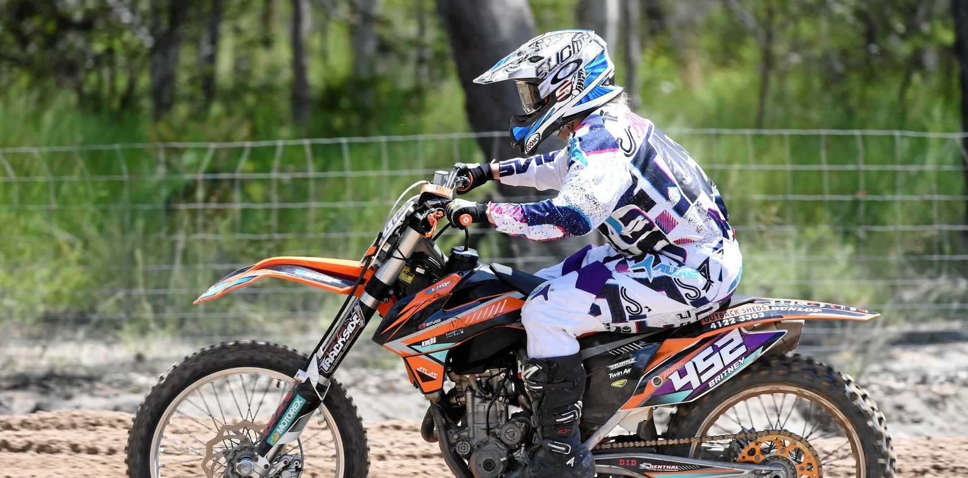 Airoh MX Series Sunshine State at Dundowran Park - Britney Boyce in the Women's race.
