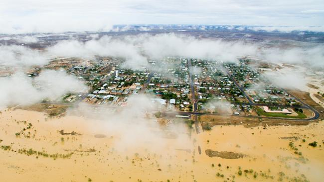 An aerial photo of Winton flooding. Picture: Winton Shire Council