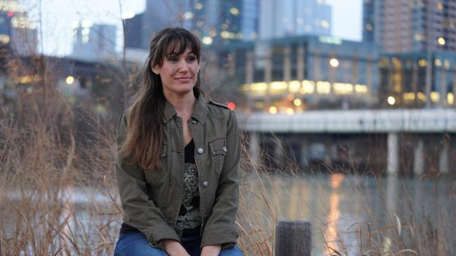 Jace Downey, a recovering sex addict, poses near her home on January 21, 2018 in Austin, Texas. Picture: Barcroft Images.