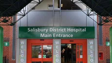 Salisbury District Hospital in Salisbury where Sergei Skripal and his daughter Yulia remain in a critical condition. Picture: AFP