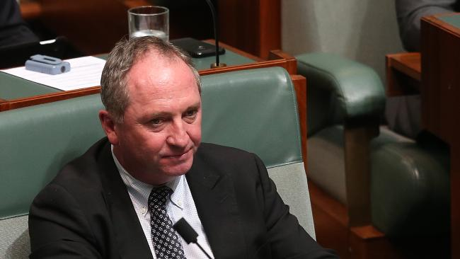 Barnaby Joyce has joined the backbench after stepping down as Nationals leader last week. Picture Kym Smith