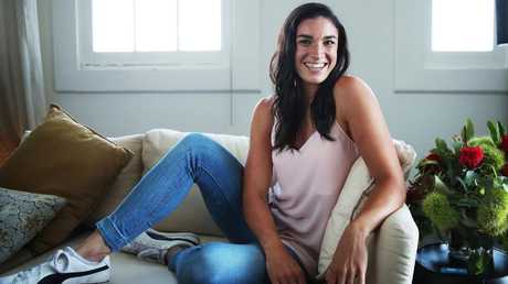 Michelle Jenneke at home in Sydney. Picture. Phil Hillyard