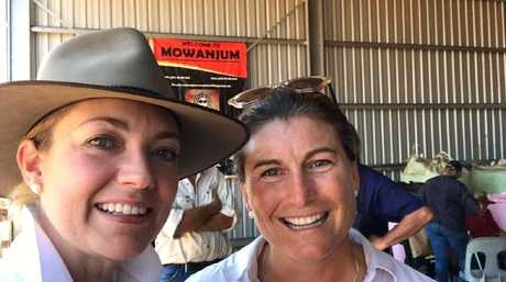WA Nationals leader Mia Davies (left) and Catherine Marriott taken at the Mowanjum field day in October last year. Picture: Supplied