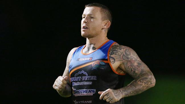 The Northern Pride will play their first Intrust Super Cup game of the season against the Wynnum-Manly Seagulls on Saturday. Todd Carney at training. Picture: BRENDAN RADKE