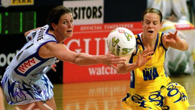 Briony Akle playing for the Swifts in 2001.