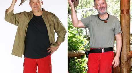 Paul, before and after I'm A Celeb. Picture: Nigel Wright.