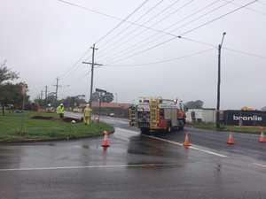 Gas line ruptures, shuts off Toowoomba street