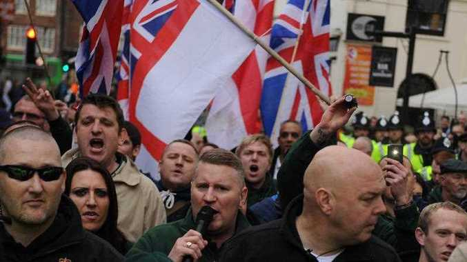 A protest involving the far right group Britain First. FILE