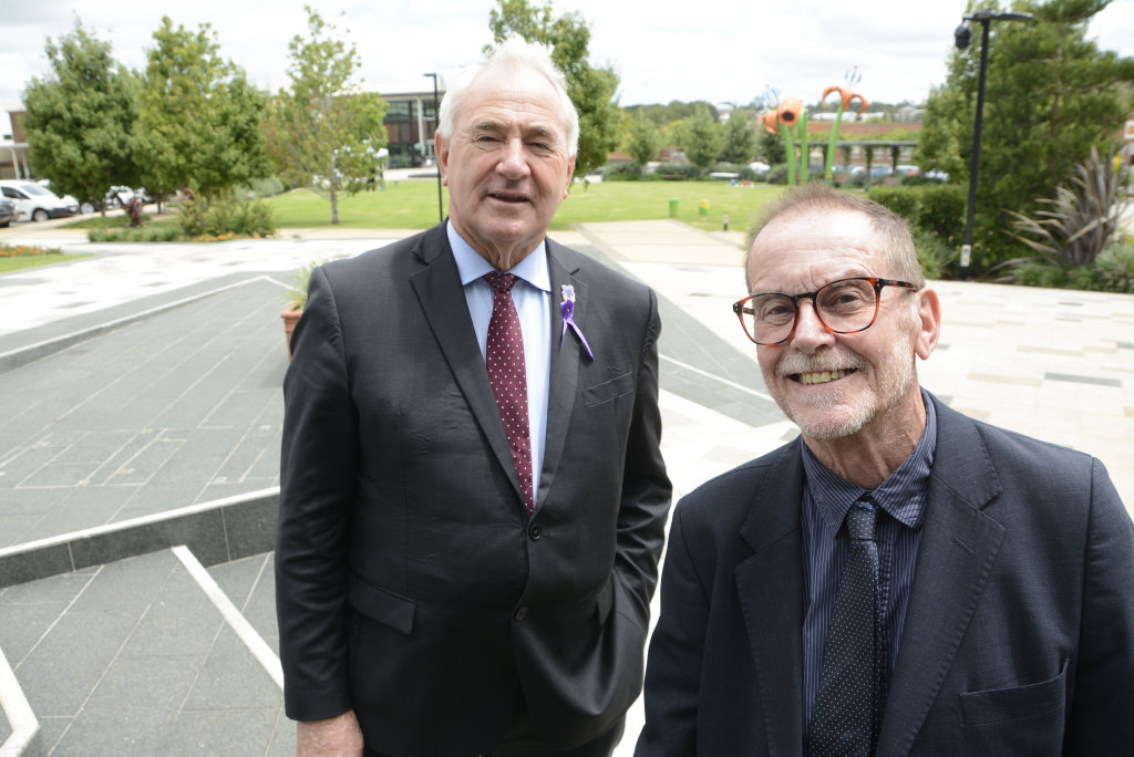 TALK THE WALK: Toowoomba Mayor Paul Antonio, and Walk21 director Dr Rodney Tolley have just signed an agreement that will direct the council to invest more into footpaths and other infrastructure that encourages walking.