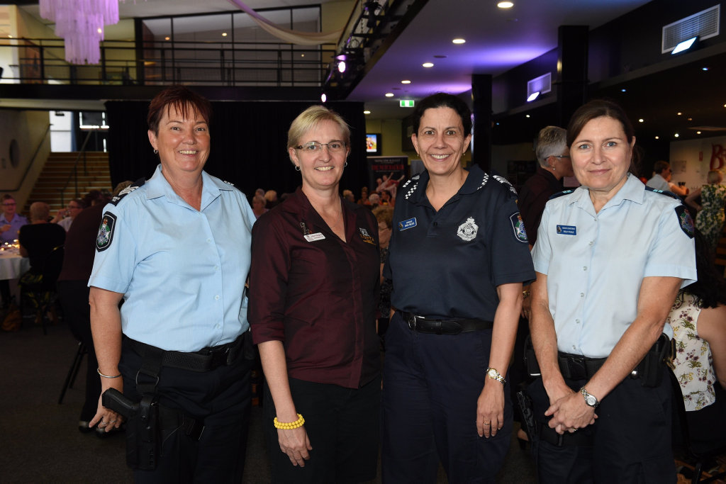 Maryborough Zonta Club International Women's Day lunch - (L) Sgt Lisa Manns, Nshara Kingston, Sgt Maria Nalder and Snr Cnst Rolly Poole.