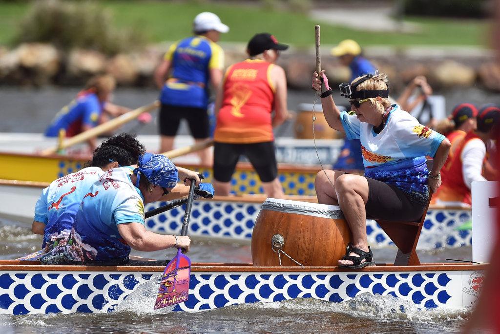 Image for sale: Sunshine Coast Dragon Boat races at Lake Kawana.