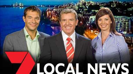 Channel 7 Maroochydore team Livio Regano, Rob Brough and Yvonne Sampson.