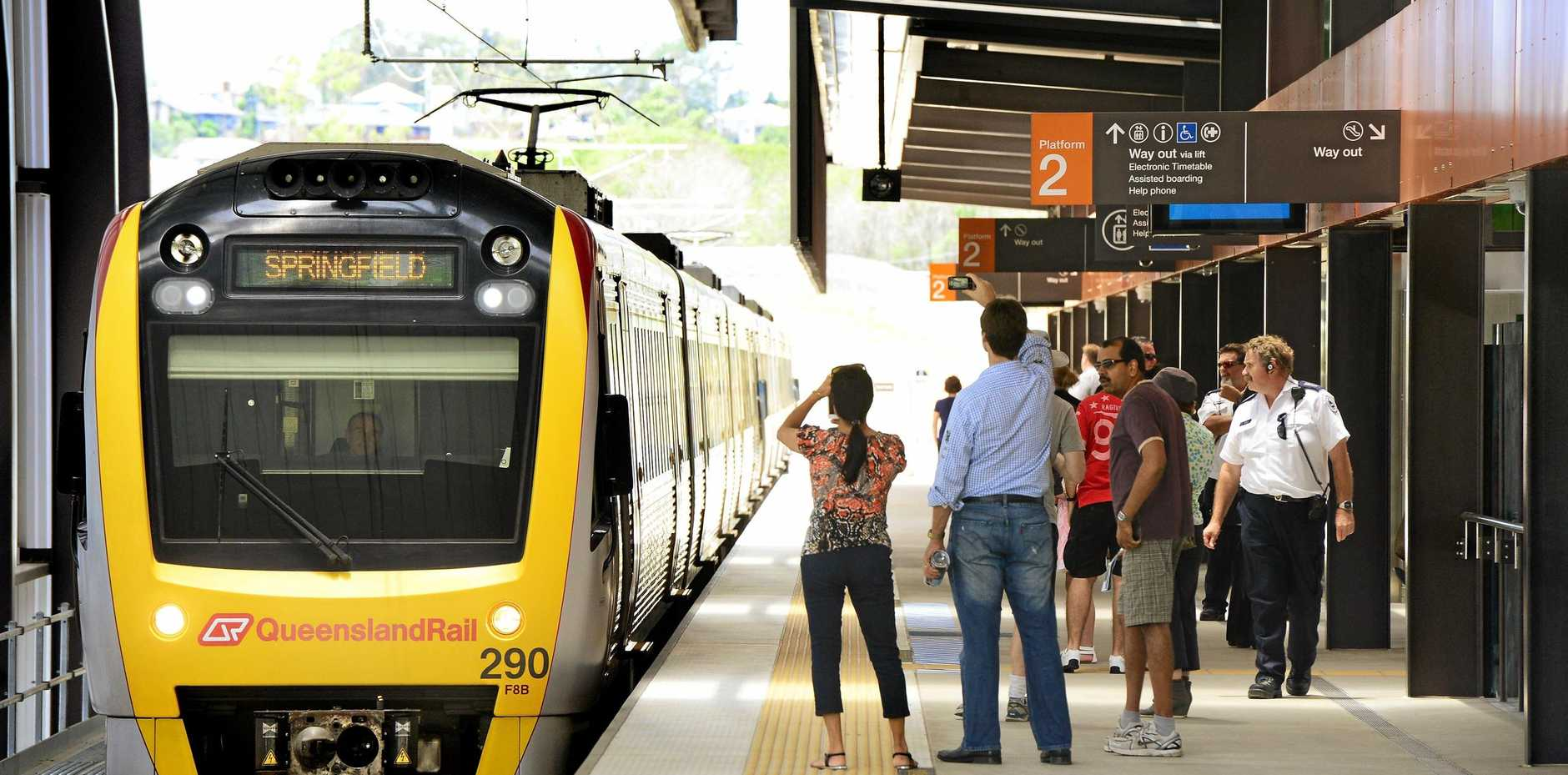 EXTEND IT: Councillor David Morrison is again calling for the State Government to provide a timeframe for the extension of the rail line at Springfield Central.