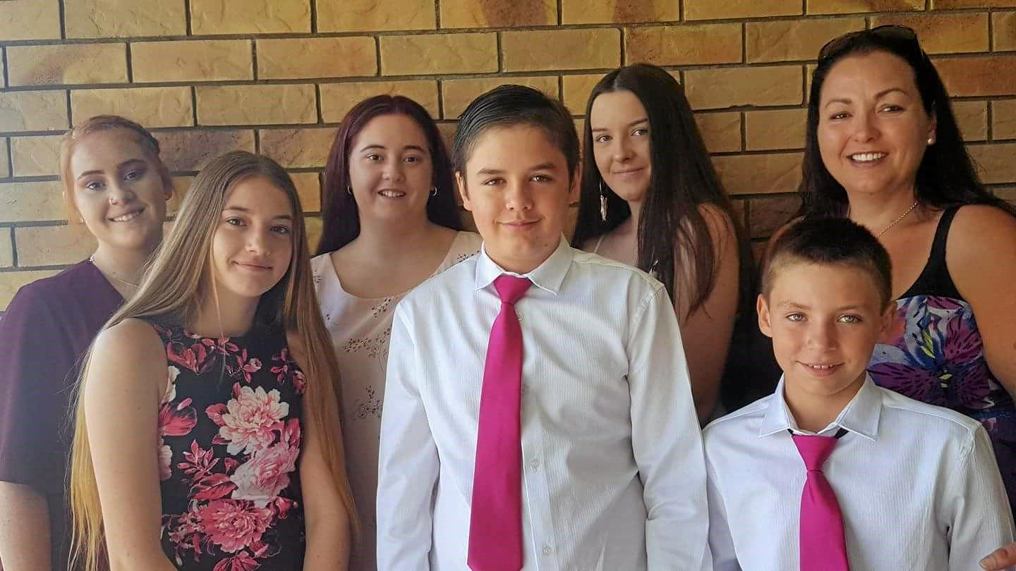 BANDING TOGETHER:  On the day of Stacey's funeral, the two families are sticking together as one.