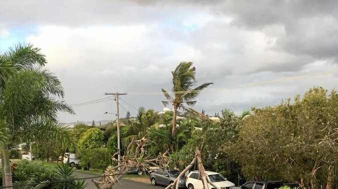 RAW POWER: Peregian Beach resident Dee Pauline posted this to Facebook showing the power in Wednesday night's winds.