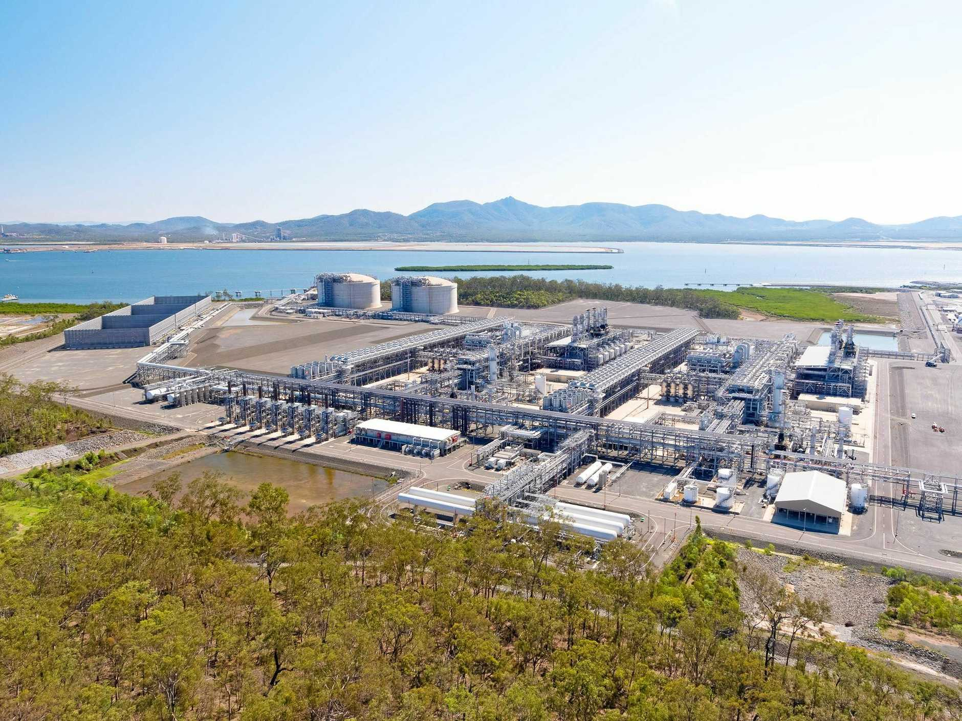 An aerial image of Australia Pacific LNG.