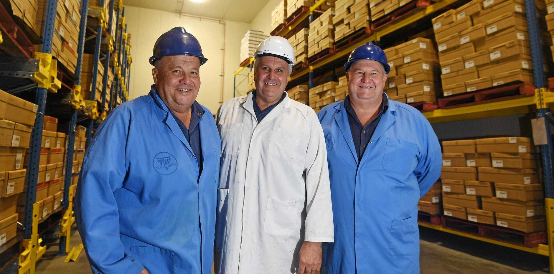 Michael, Terry and Tony Nolan have a $10m expansion planned for Nolan Meats.