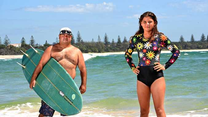 CUSTODIANS: Juraki's Joel Slabb and daughter Jalaan will play a big role at this weekend's Quiksilver Pro.