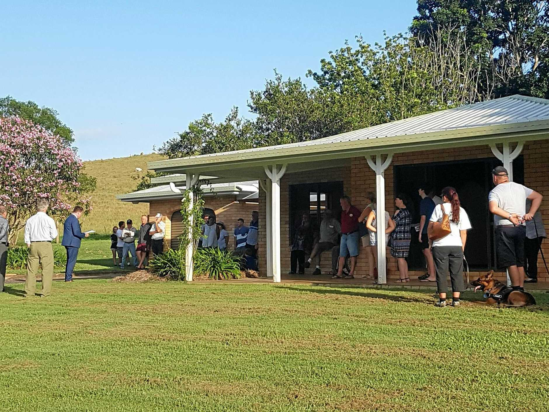 The auction of 340 Pomona Kin Kin Rd, Pinbarren, attracted genuine interest.