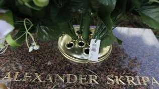 The grave of Skirpal's son, Alexander. Picture: AP/Matt Dunham