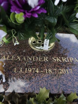 The grave of Skirpal's son, Alexander. Picture: AP/Matt Dunham