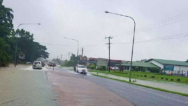 Flooding in Tully. PHOTO: Craig Senko