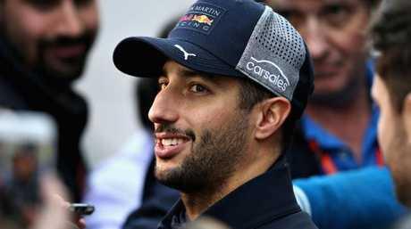 Daniel Ricciardo after his impressive testing run.