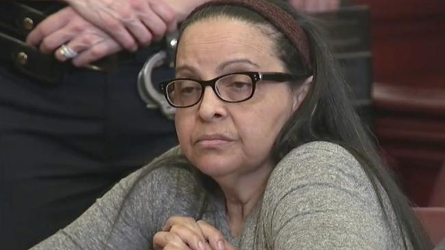Accused killer Yoselyn Ortega listens to court proceedings during the first day of her trial in New York last week. Picture: WYNY-TV/AP
