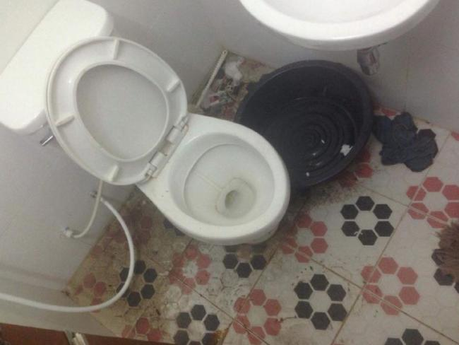 The putrid prison toilet. Picture: The Sun