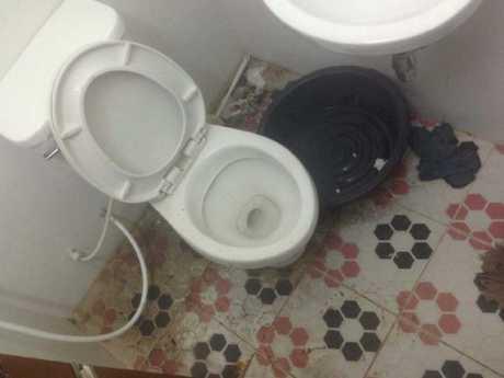 The putrid prison toilet. Picture: The Sun