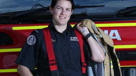 Briody Walker at Geelong City Fire Station.