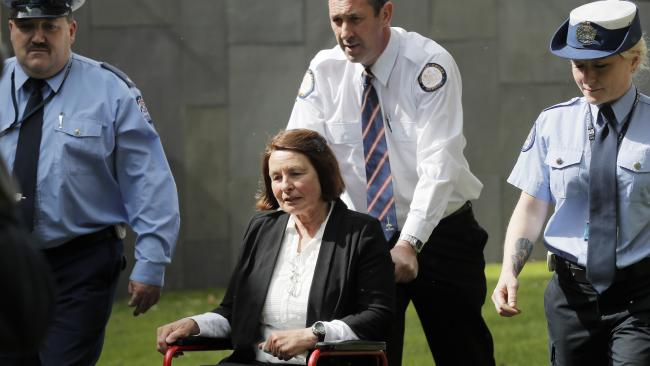Convicted murderer Susan Neill-Fraser outside the Supreme Court in Hobart on a previous appearance. Picture: RICHARD JUPE