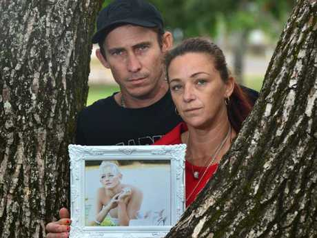 Joanne and Michael Piva with a picture of their daughter Breannah. Picture: Evan Morgan