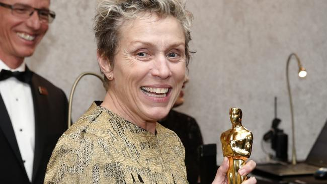 Frances McDormand, winner of the award for best performance by an actress in a leading role for Three Billboards Outside Ebbing, Missouri, attends the Governors Ball after the Oscars on Sunday, March 4, 2018, at the Dolby Theatre in Los Angeles.