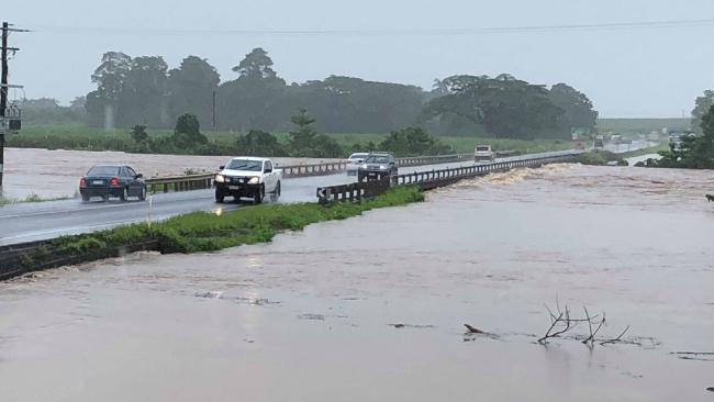 Flood Warning for Johnstone River, Innisfail. PHOTO: Allan Sloan