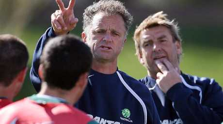 Graham Arnold in his first stint as Socceroos coach in 2006.