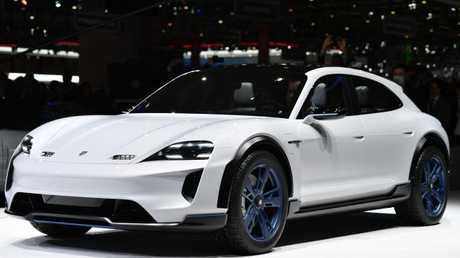 Fast charging: The new Porsche Mission E Cross Turismo concept. Pic: AFP.