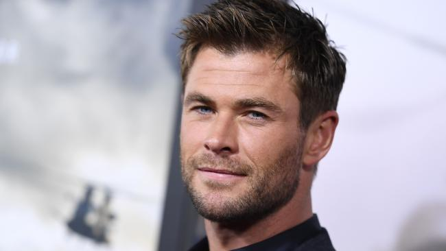 Chris Hemsworth is super buff but that doesn't stop him from being jealous of his 12 Strong co-star. Picture: AFP