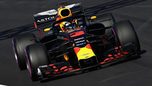 Daniel Ricciardo during his scorching run at Barcelona.