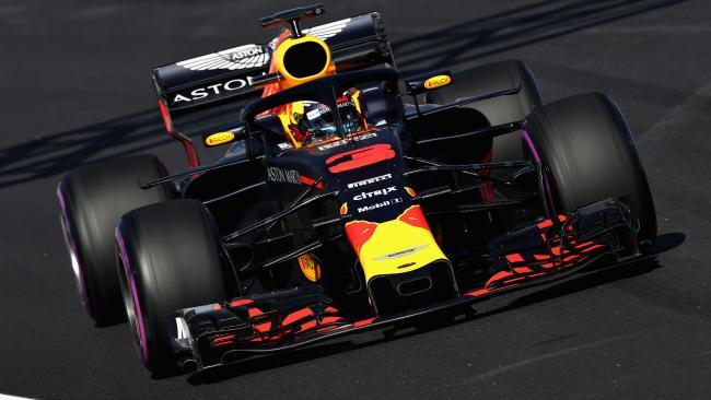 Daniel Ricciardo during his scorching run at Barcelona.