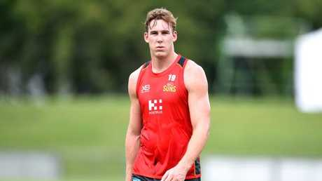 Tom Lynch at Gold Coast training. Picture: Alix Sweeney