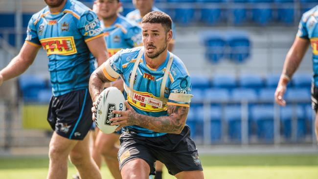 Nathan Peats at Titans training at Cbus Super Stadium. Picture: Gold Coast Titans