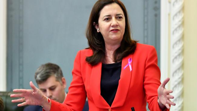 Premier Annastacia Palaszcuk insisted she did not need to ask Mr Bailey who it was as Mr Algie's name was redacted in emails released under Right to Information laws last month. Picture: AAP Image/Darren England
